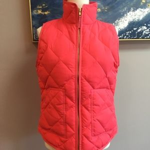 J. Crew Quilted Down Vest